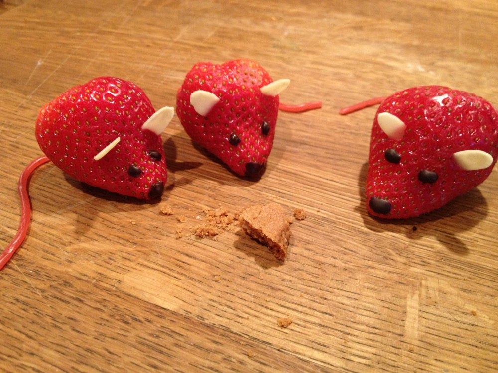 I have mice in my kitchen.... edible ones!