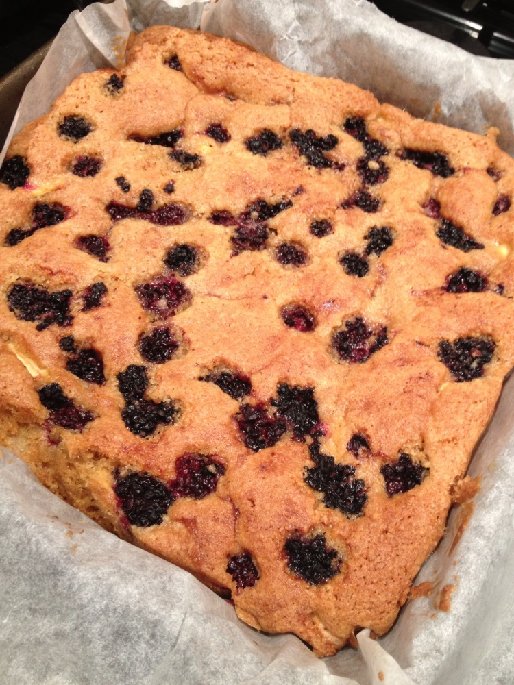 Blackberry and Apple Tray Bake! (4/6)